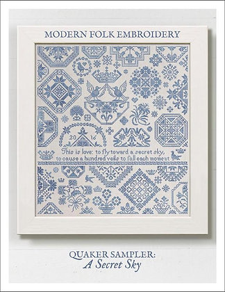Quaker Sampler: A Secret Sky by Modern Folk Embroidery