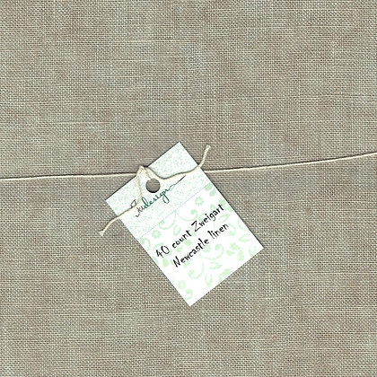 32 Count Brown Paper Fat Quarter Hand-Dyed Linen by xJudesign