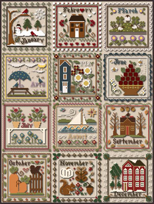 Months of the Year by Little House Needleworks