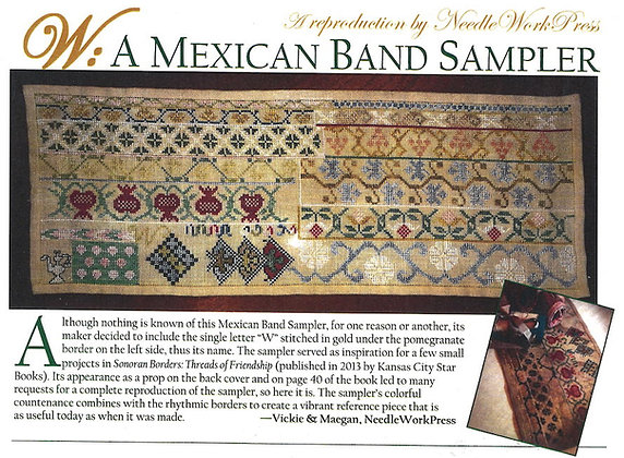 W: A Mexican Band Sampler by Needlework Press