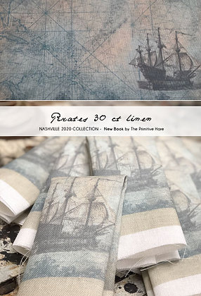 NASH-STASH Pirates 30 or 40 Count Linen by The Primitive Hare