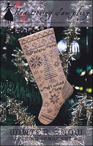 Winter Snow Stocking Ornament by Heartstring Samplery