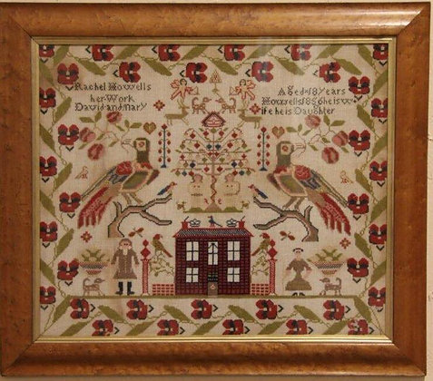 Rachel Howells 1856 Sampler Reproduction by The Scarlett House
