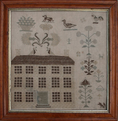 Mansion House at Fox Hollow Reproduction Sampler by With Thy Needle & Thread