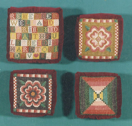 Scottish-American Pincushions KIT with floss/linen by The Scarlet Letter