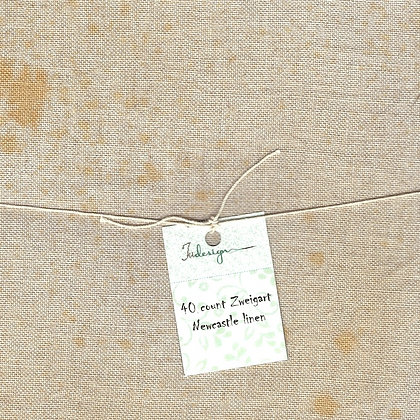 32 Count Grandma's Slip Fat Quarter Hand-Dyed Linen by xJudesign