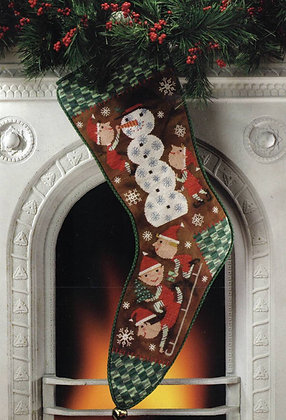 Snow Day Christmas Stocking by Birds of a Feather