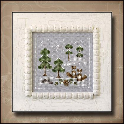 CATS Frosty Forest:Snowy Foxes by Country Cottage Needleworks
