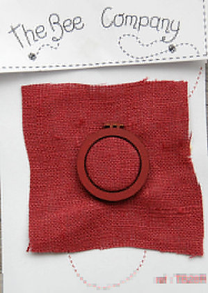 Red Wooden Hoop by The Bee Company TB28R