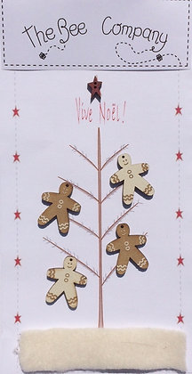 Gingerbread Tree button pack by The Bee Company TBN12