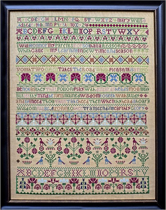 Mary Wills c. 1750 by Hands Across the Sea Samplers