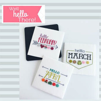 CATS Well Hello There (all 12 months) by Hands on Designs