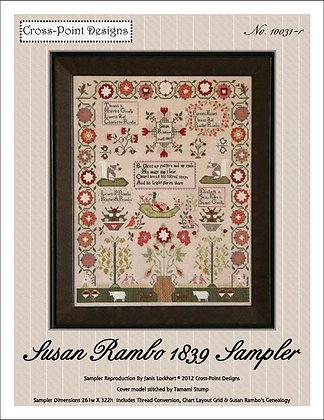 Susan Rambo 1839 Sampler by Cross-Point Designs
