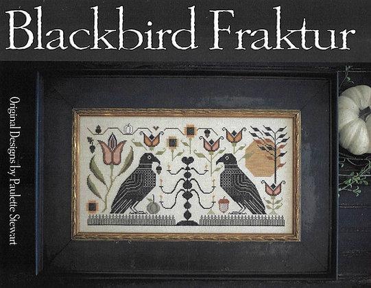 Blackbird Fraktur CHART by Plum Street Samplers