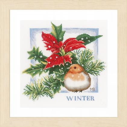 Winter KIT with Evenweave/Threads by Marjolein Bastin/Lanarte