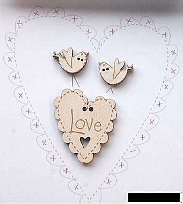 Heart & Doves by The Bee Company TB4CE