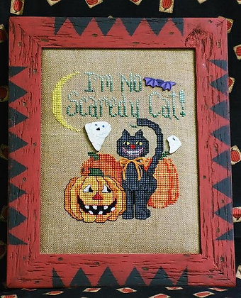 CATS Scaredy Cat by Waxing Moon Designs