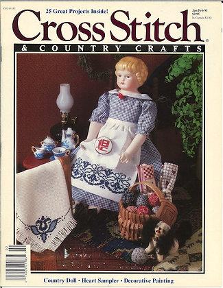 CATS Cross Stitch & Country Crafts Jan/Feb 91