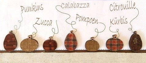 Pumpkin (Fabric Covered) Button Set TBHA11 by The Bee Company
