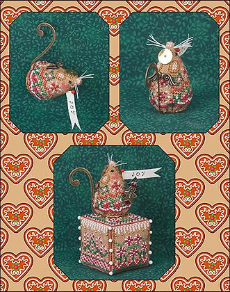 CATS Gingerbread Angel Mouse by Just Nan (CHART ONLY)