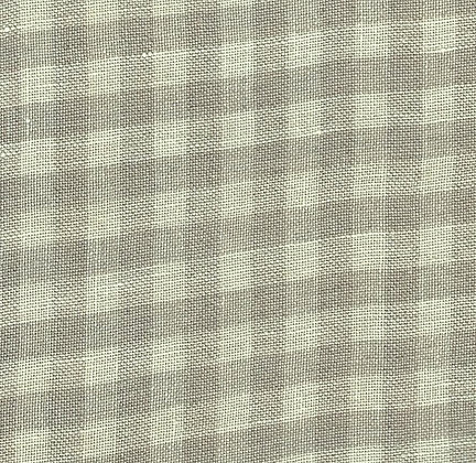 28 Count Light Khaki Gingham 1/8th yard cut Hand-Dyed Linen by Weeks Dye Works