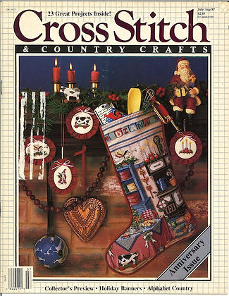 CATS Cross Stitch & Country Crafts July/Aug '87