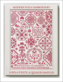 Love & Unity: A Quaker Sampler by Modern Folk Embroidery