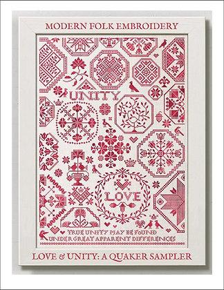 Love & Unity: A Quaker Sampler by Modern Folk Embroidery