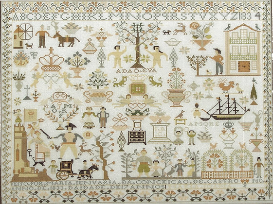 Maria Jenuaria 1833-34 by Queenstown Sampler Designs