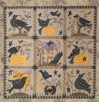 The Raven: An Autumn Quilt of 9 Applique Patterns by Blackbird Designs