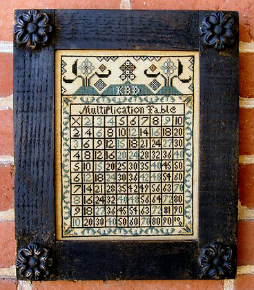*Multiplication Table by Carriage House Samplings