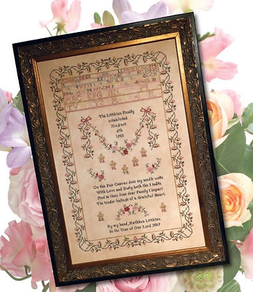 On This Fair Canvas (Headmistress Sampler Series) by Cross Stitch Antiques