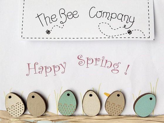 Easter Eggs button pack by The Bee Company TB7C