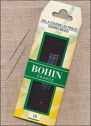 Bohin Size 10 Short Beading Needles (14/pack)