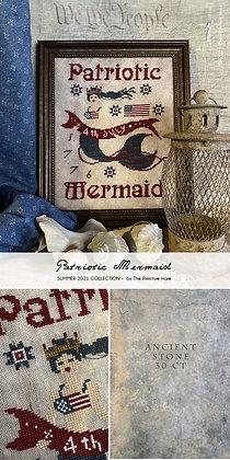 Patriotic Mermaid by The Primitive Hare