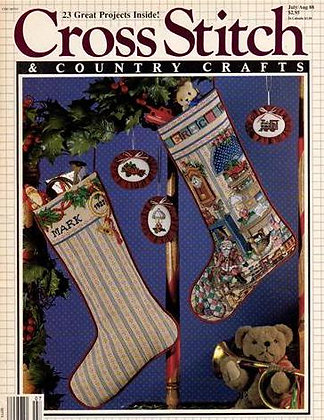 CATS July/August 1988 Cross Stitch & Country Crafts