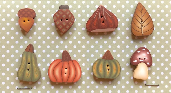 Autumn Forest Buttons by Puntini Puntini