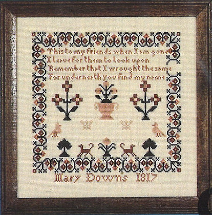 Mary Downs 1817 #907 by The Early American Sampler