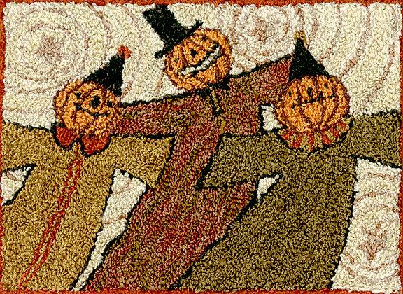 SALE Whimsy Ghouls (Punchneedle) by Teresa Kogut