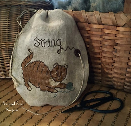 Miss Kitty's String Bag by Scattered Seed Samplers