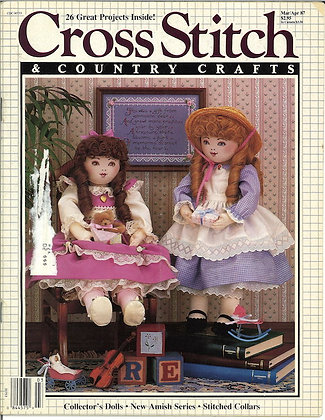 CATS Cross Stitch & Country Crafts March/April '87