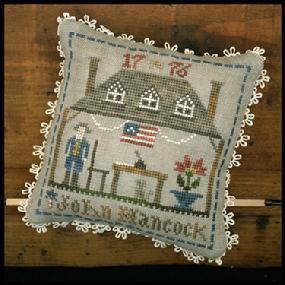 John Hancock cross stitch chart by Little House Needleworks