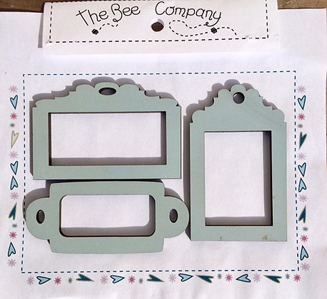 Blue Frame Tags by The Bee Company ET14