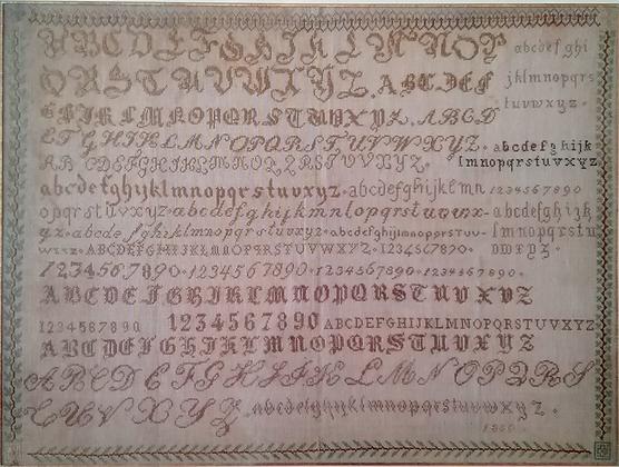 Alphabets 1850 by Reflets de Soie