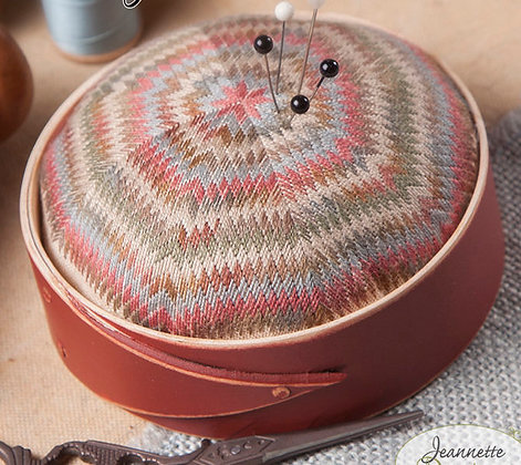 """BRICK RED (First Picture) 4"""" Round Pin Cushion Frame by Lone Elm Lane"""