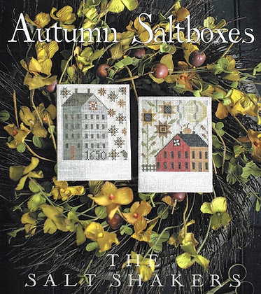 Autumn Saltboxes by Plum Street Samplers