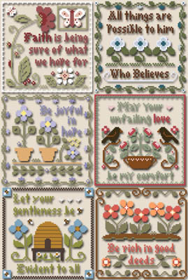 Inspirational Scriptures by Little House Needleworks