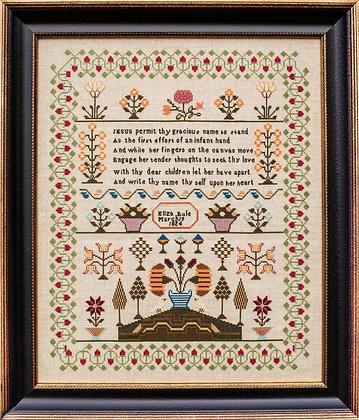 OVERSTOCK Eliza Rule 1824 by Hands Across the Sea Sampler