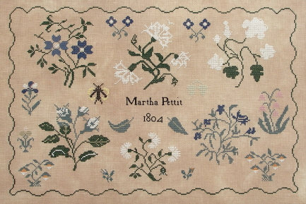 Martha Pettit 1804 by Queenstown Sampler Designs