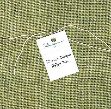 36 Count Oil Green Fat Quarter Hand-Dyed Linen by xJudesign